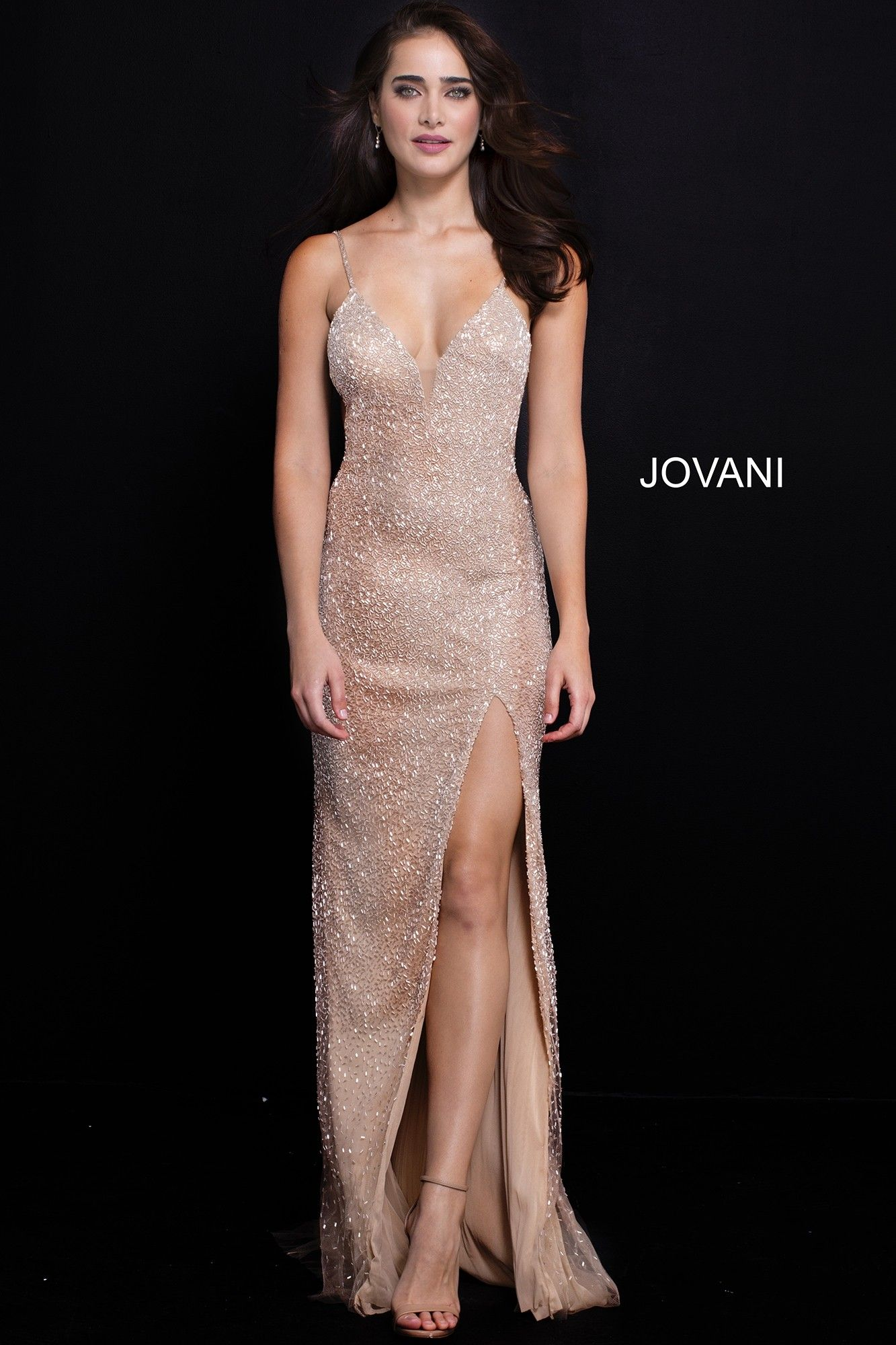 22d1cbd3ea Perfect red carpet glamour in Jovani 58506. This breathtaking gown is  covered in spectacular beading