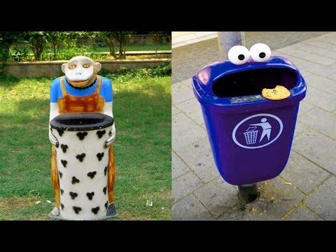 Unique And Creative Dustbins Trash Can Decoration Ideas Recycling Bins For Home Recycling Bins Diy Recycling Bins