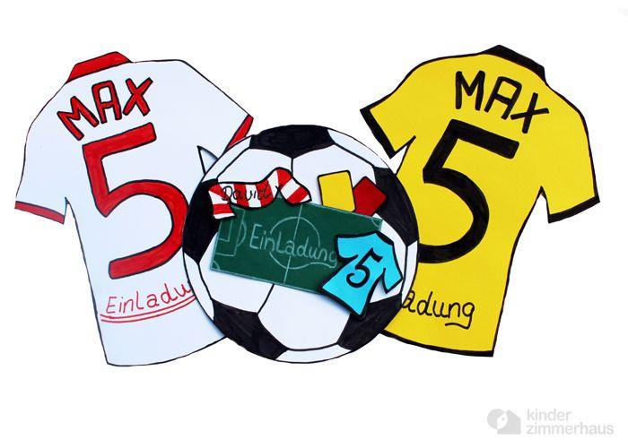 fußball - trikot - einladung set / 3 stk | products, 3) and ein, Einladung