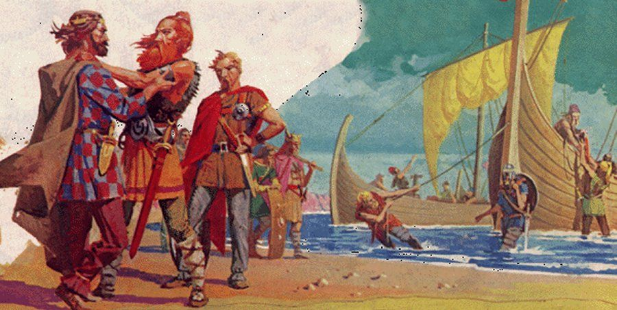 Image result for Hengist and Horsa