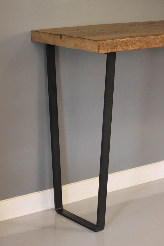 Dining Table Steel Leg Table Reclaimed Planks Solid By DendroCo