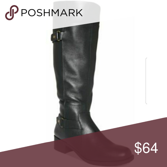 4eec9abb154 EASY SPIRIT Labarca leather calf boots Black leather calf height boots with  zipper along inside of