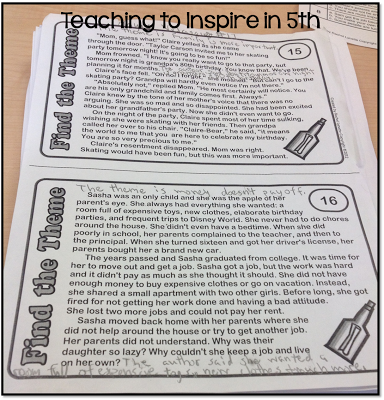 Teaching Theme in the Upper Grades: Blog Post...Freebie Flippable Included!
