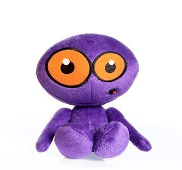 Hear Doggy Martians Purple Dog Toy