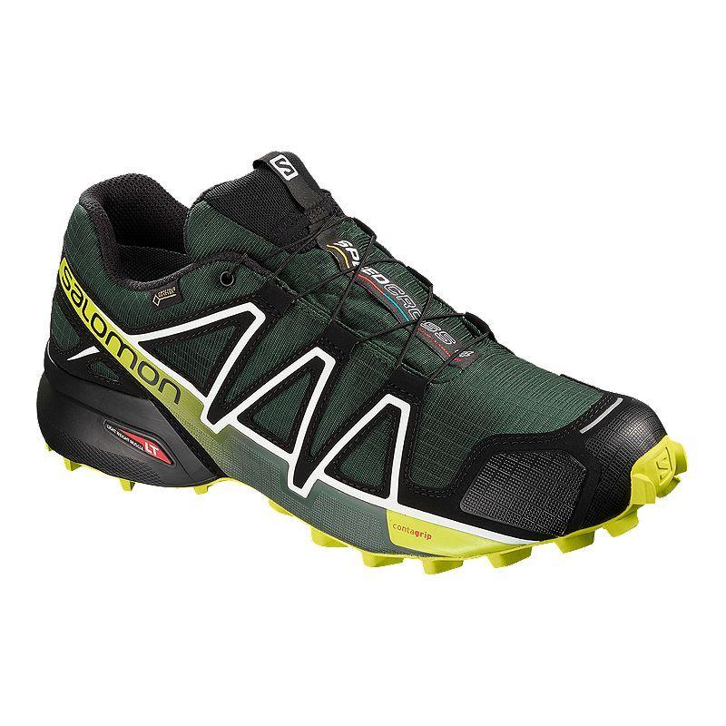 salomon gtx trail running shoe womens yellow