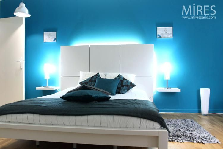 awesome chambre bleu turquoise et beige contemporary | Chambre ...