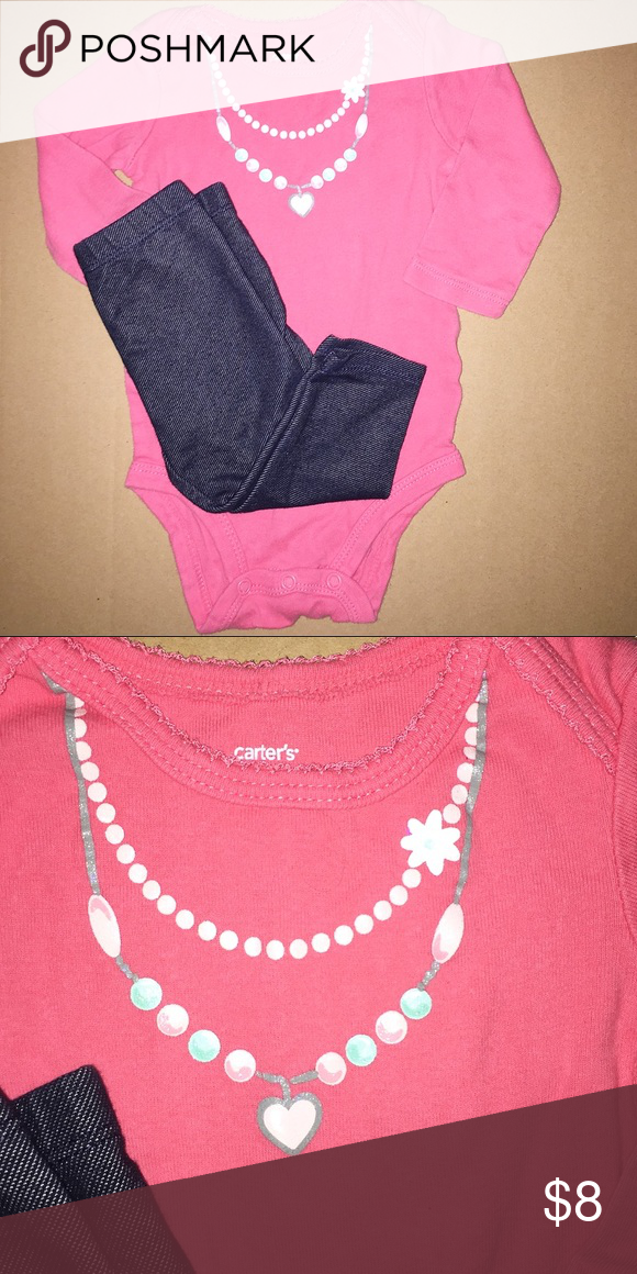 a3e25adb752d 2 piece MIX-MATCHED SET | 6 months Excellent condition! Onesie is Carter's  and the pants are Okie Dokie Make A Bundle for A Discount! 😊 Other