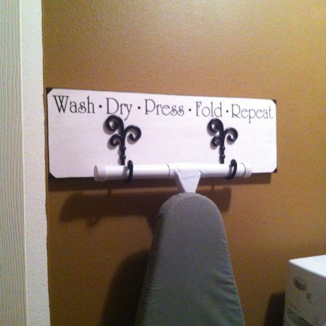 Best 25 Ironing Board Hanger Ideas On Pinterest Laundry