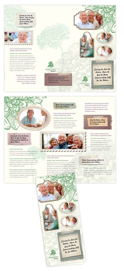 Home Care Tri Fold Brochure Template Will Be A Good Choice For