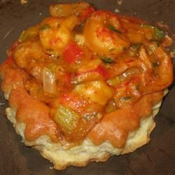 Crawfish and puff pastry