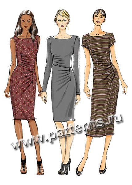 32a22497bae Выкройка Vogue — Платье с драпировкой - V8946
