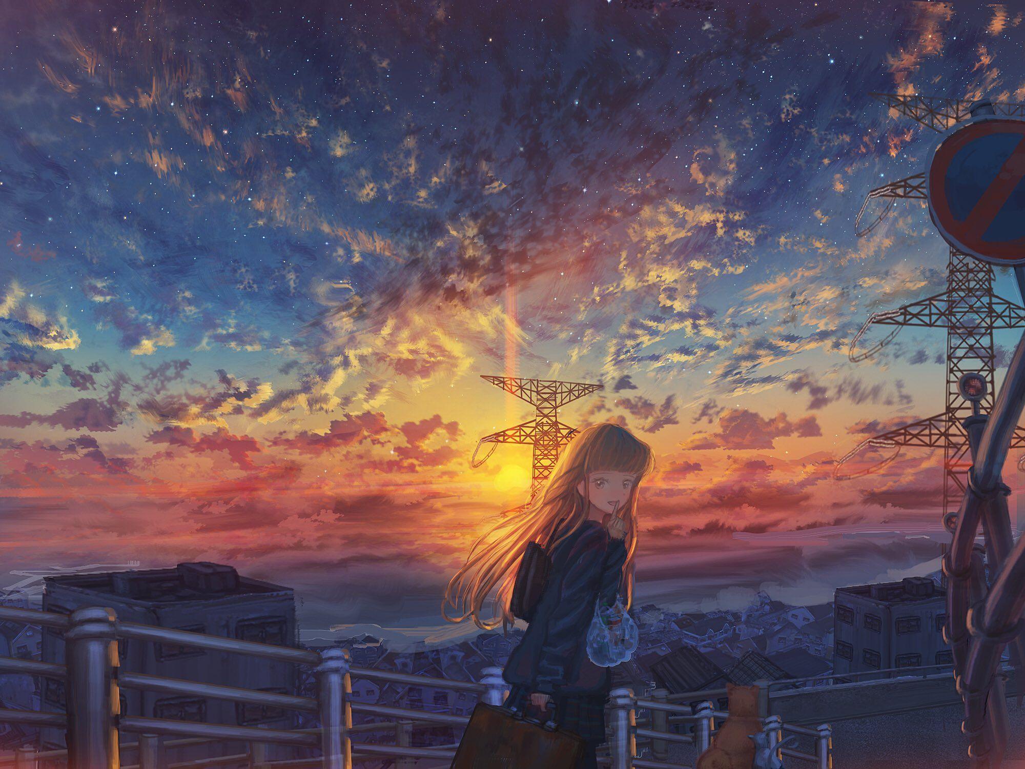 ナコモ on Anime landschaft und Hintergrund landschaft