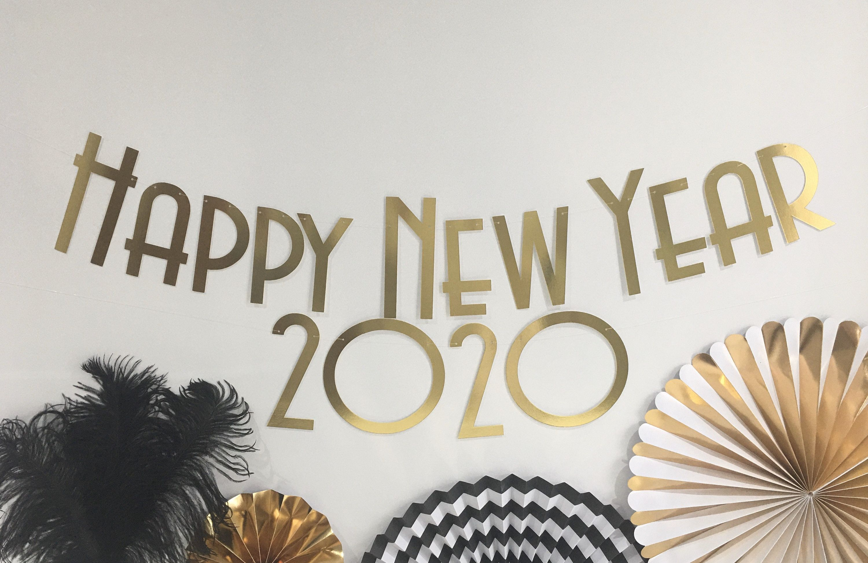 Happy New Year 2020 Banner, 1920's theme party | Happy new ...
