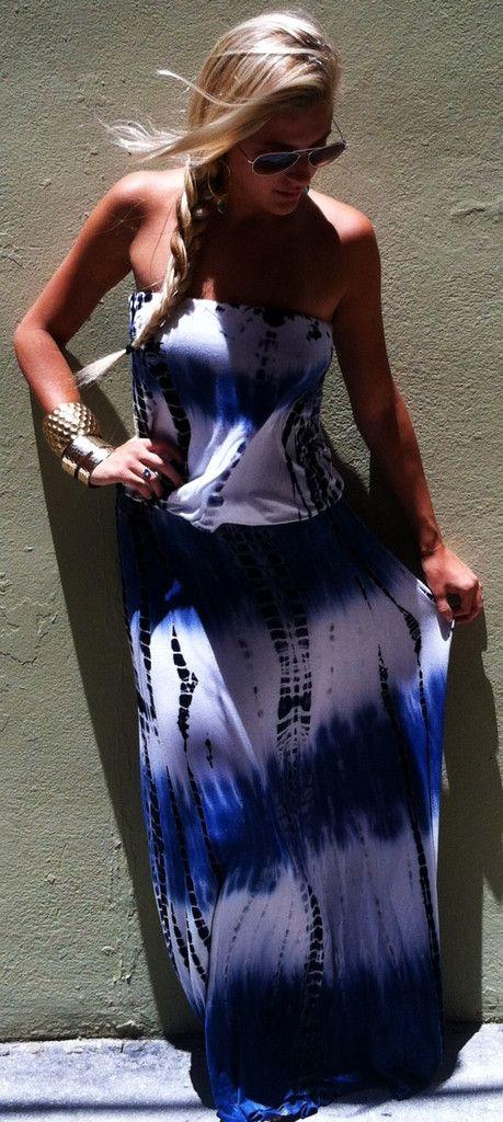 Blueberry Blaze maxi dress - Boca Leche