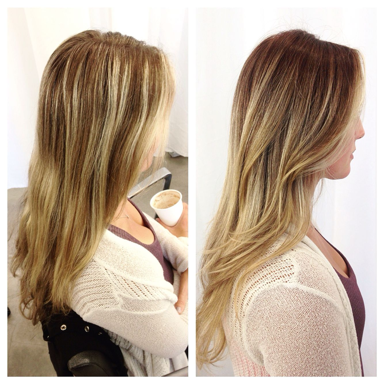 Soft Transition From Foil Highlights To Hand Painted Balayage By Mel