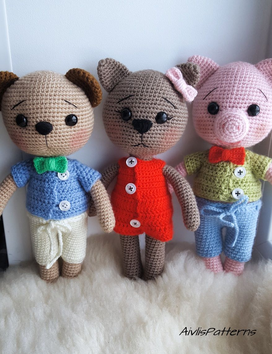 Pin by Aivlis Patterns on Aivlis created patterns | Crochet Animals