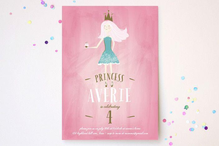 Charming Princess Children's Birthday Party Invita...   Minted