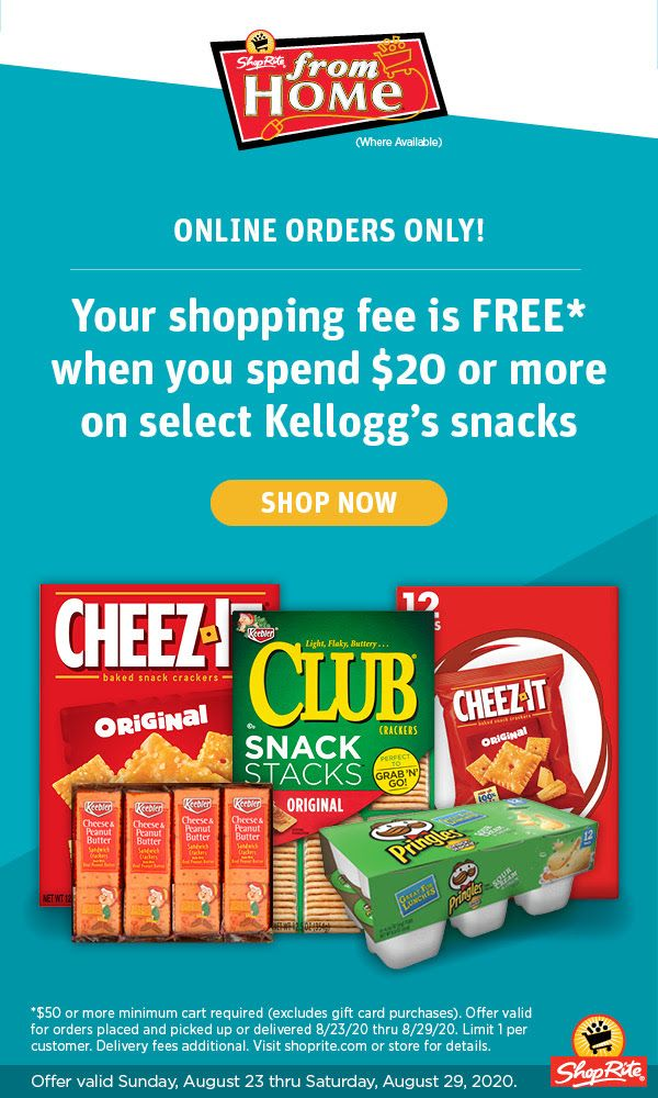 Shoprite From Home Online Shopping Fee Is Free August 23 2020 Thru August 29 2020 Home Online Shopping Shoprite Weekly Ads