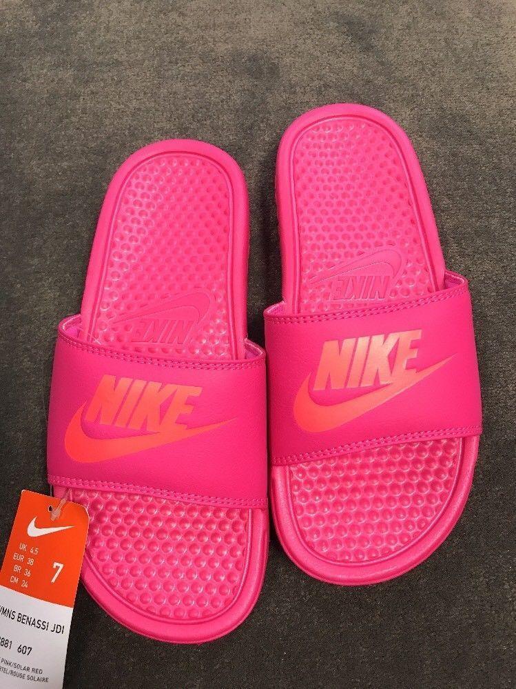 2796b6945a6b Nike Slides Womens Deadly Pink Benassi JDI Size 7