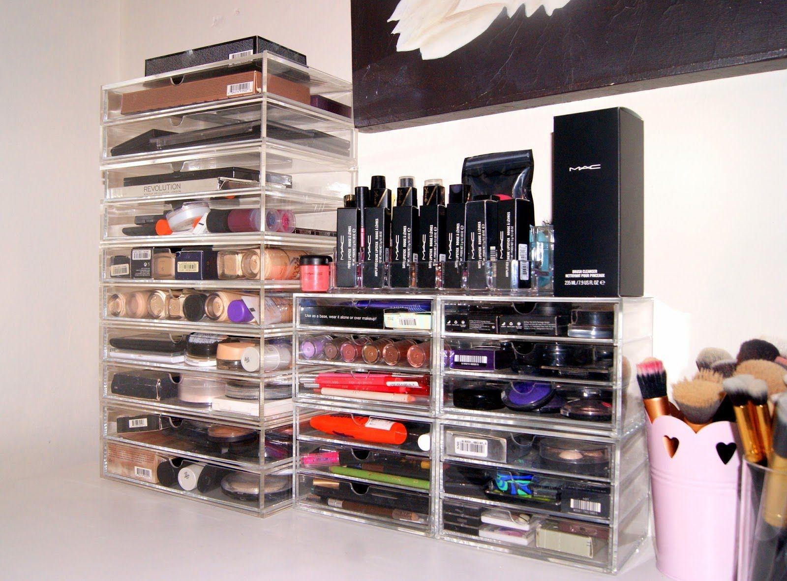My Makeup Storage U0026 Collection | Vanity Tour, Muji Drawers
