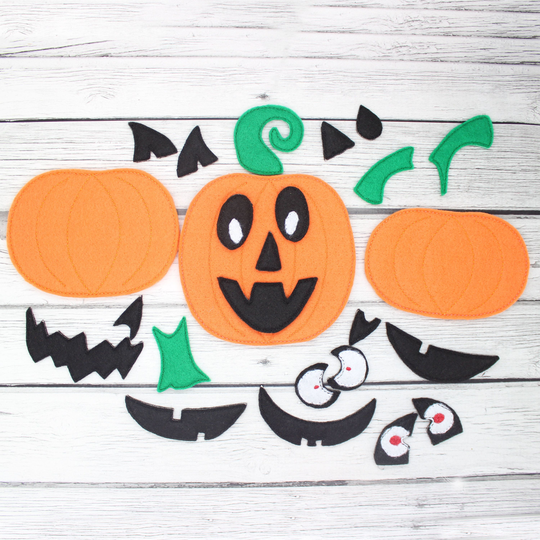 Build A Pumpkin Jack O Lantern Kids Learning Game Busy