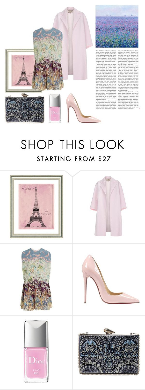 """Без названия #23"" by vera-almazova on Polyvore featuring мода, Vintage Print Gallery, Paul Smith, Valentino, Christian Louboutin, Christian Dior, KOTUR, women's clothing, women's fashion и women"