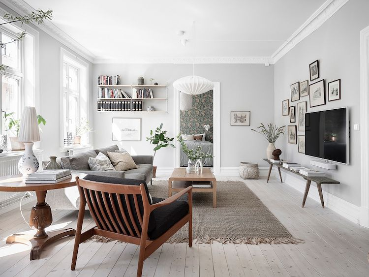 Scandinavian Living Room On Behance Living Room Scandinavian Living Room Decor Apartment Living Room Grey
