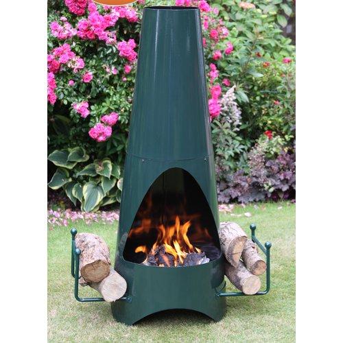 Gardeco Oslo Steel Charcoal And Wood Burning Chiminea Wood Burning Fire Pit Wood Burning Fires Modern Outdoor Fireplace