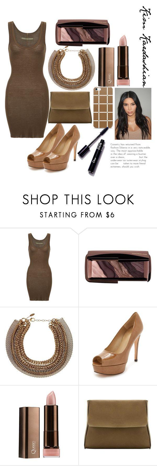 """@kimk7 Kim Kardashian"" by alealesia3 ❤ liked on Polyvore featuring Enza Costa, Hourglass Cosmetics, Roberto Cavalli, Stuart Weitzman, COVERGIRL and MANGO"