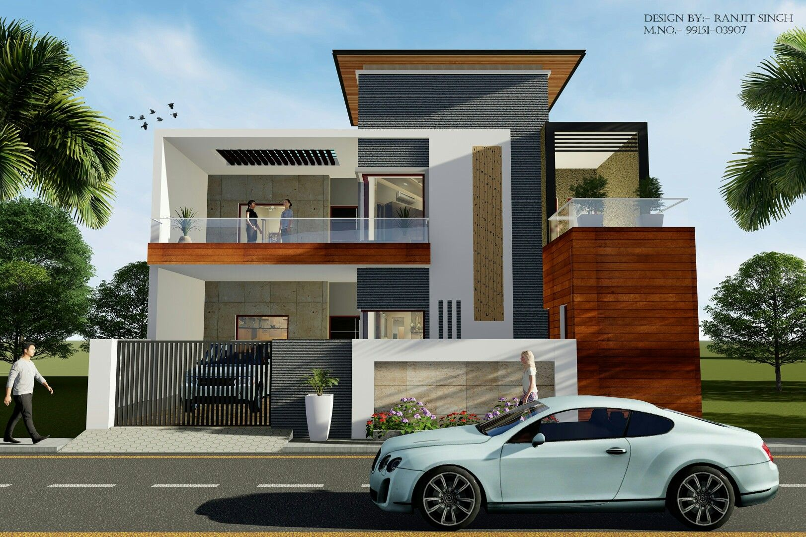 35 Feet Front View House Designs Exterior Architecture House House Front Design