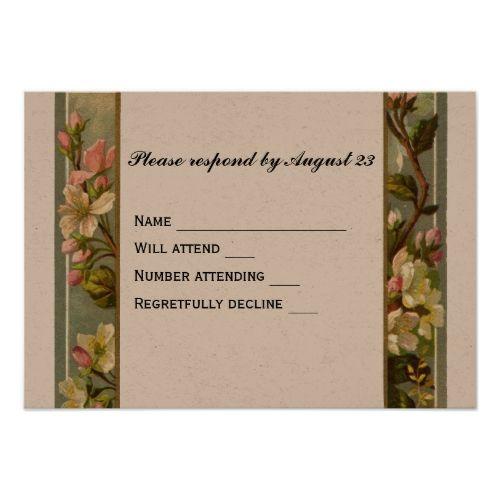 Vintage Lily Cross Rsvp Catholic Wedding Invitations Pinterest