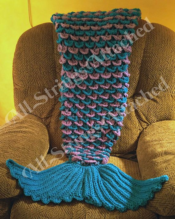 Crochet Mermaid Tail Blanket TODDLER by ChristysDaydreams on Etsy ...