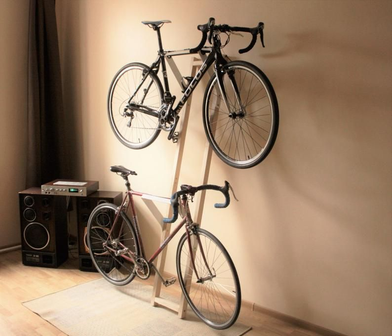 Lean against the wall double bike rack no mounting needed