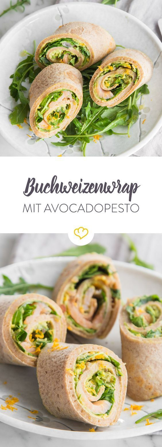 Clean eating: pancakes with avocado pesto -  Anyone can make pancakes – only you can serve health