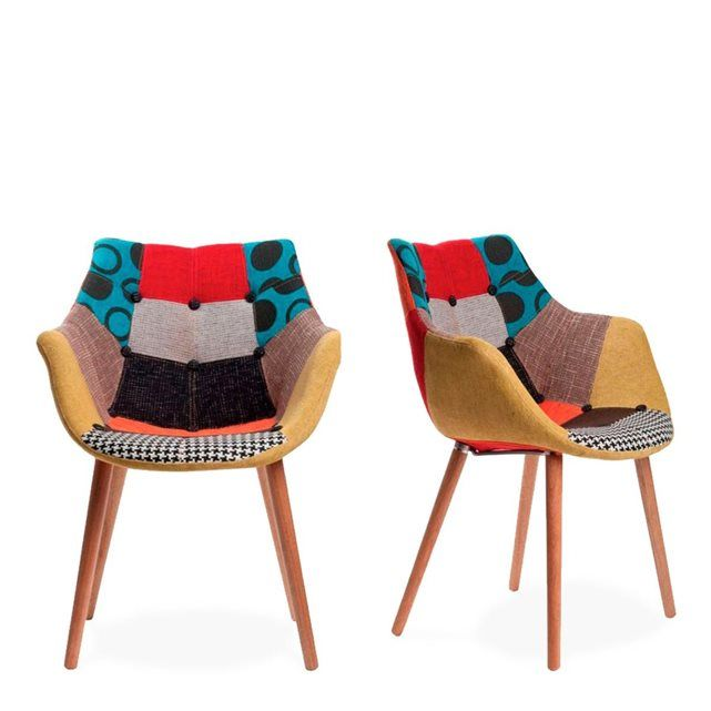 Chaise Eleven lot de 2 chaises eleven patchwork colors | déco | pinterest