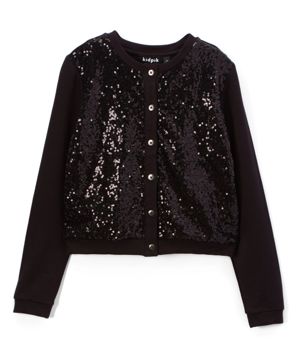 Black Sequin Cardigan - Toddler & Girls | Products | Pinterest ...