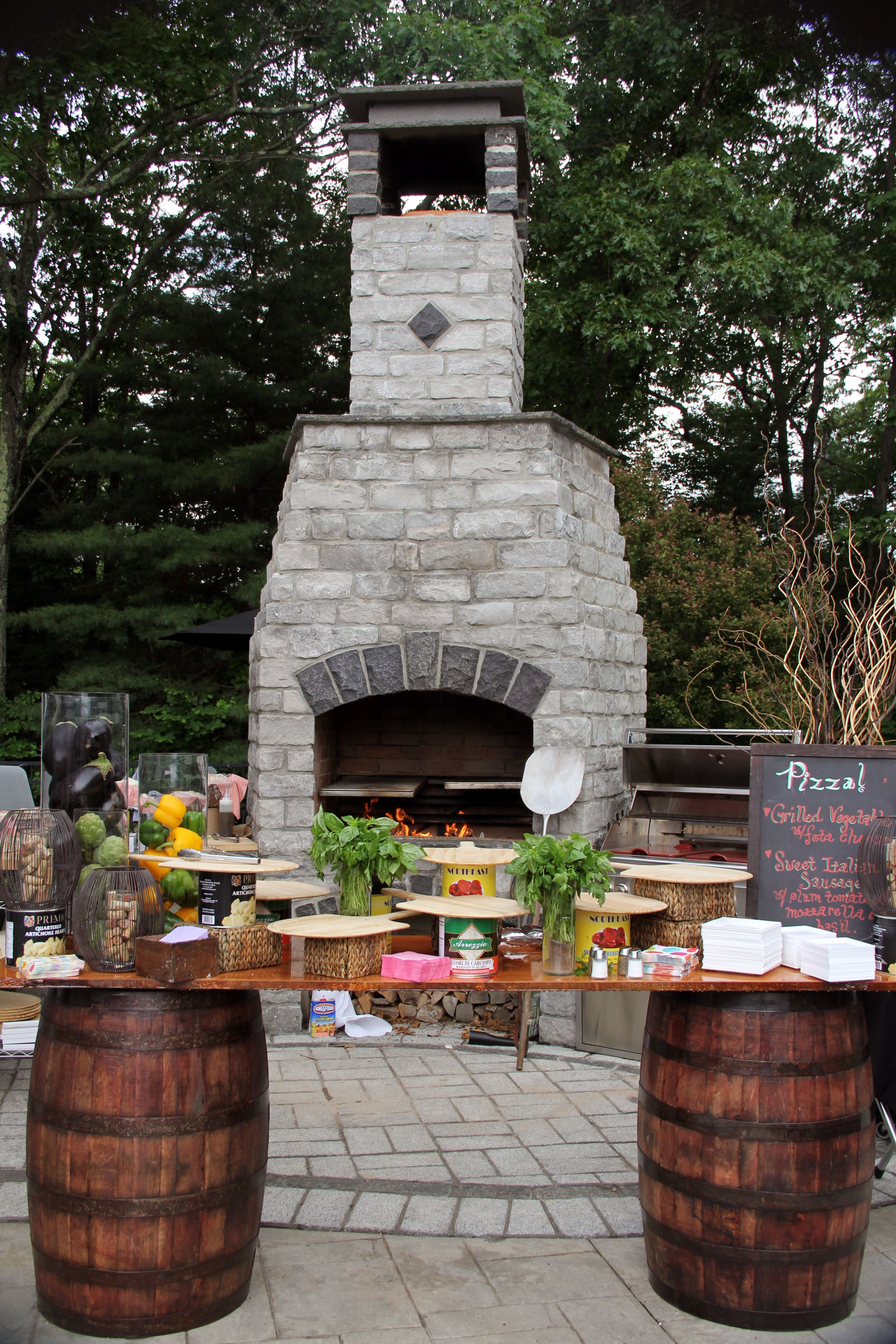 Nothing Better Than Pizza Right Out Of The Stone Fire Oven Outdoor Parties Wedding Catering Corporate Events
