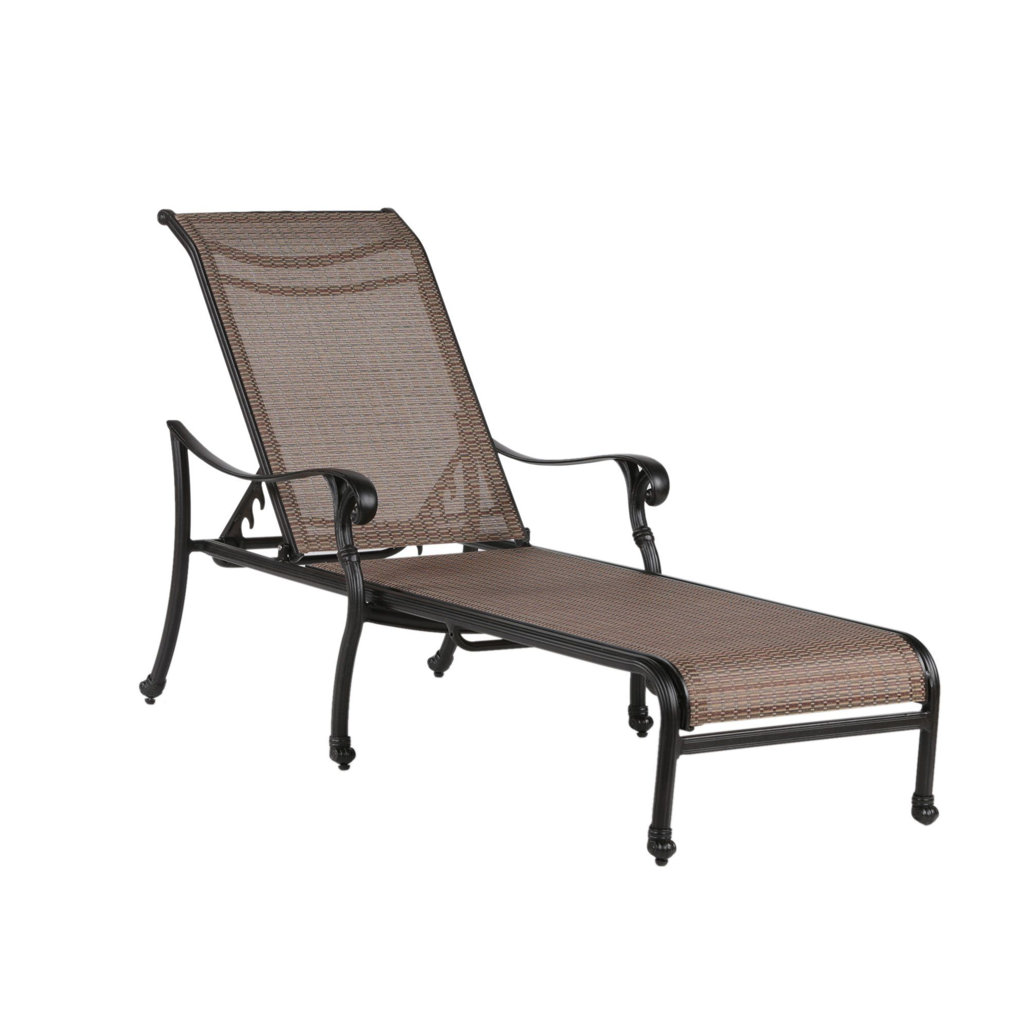 Swell Yorkshire Cast Aluminum Silver Reclining Sling Chaise Evergreenethics Interior Chair Design Evergreenethicsorg