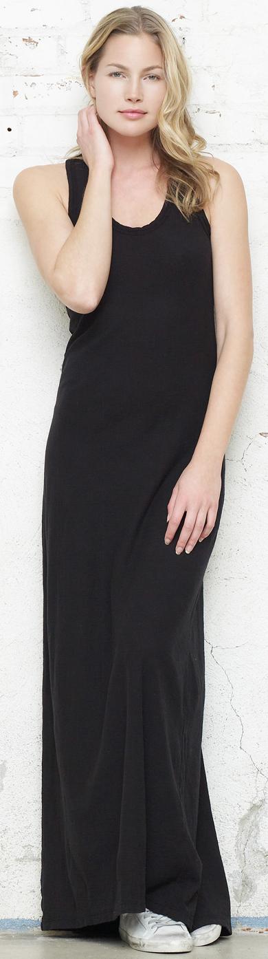 Spring Contrast Binding Maxi Dress