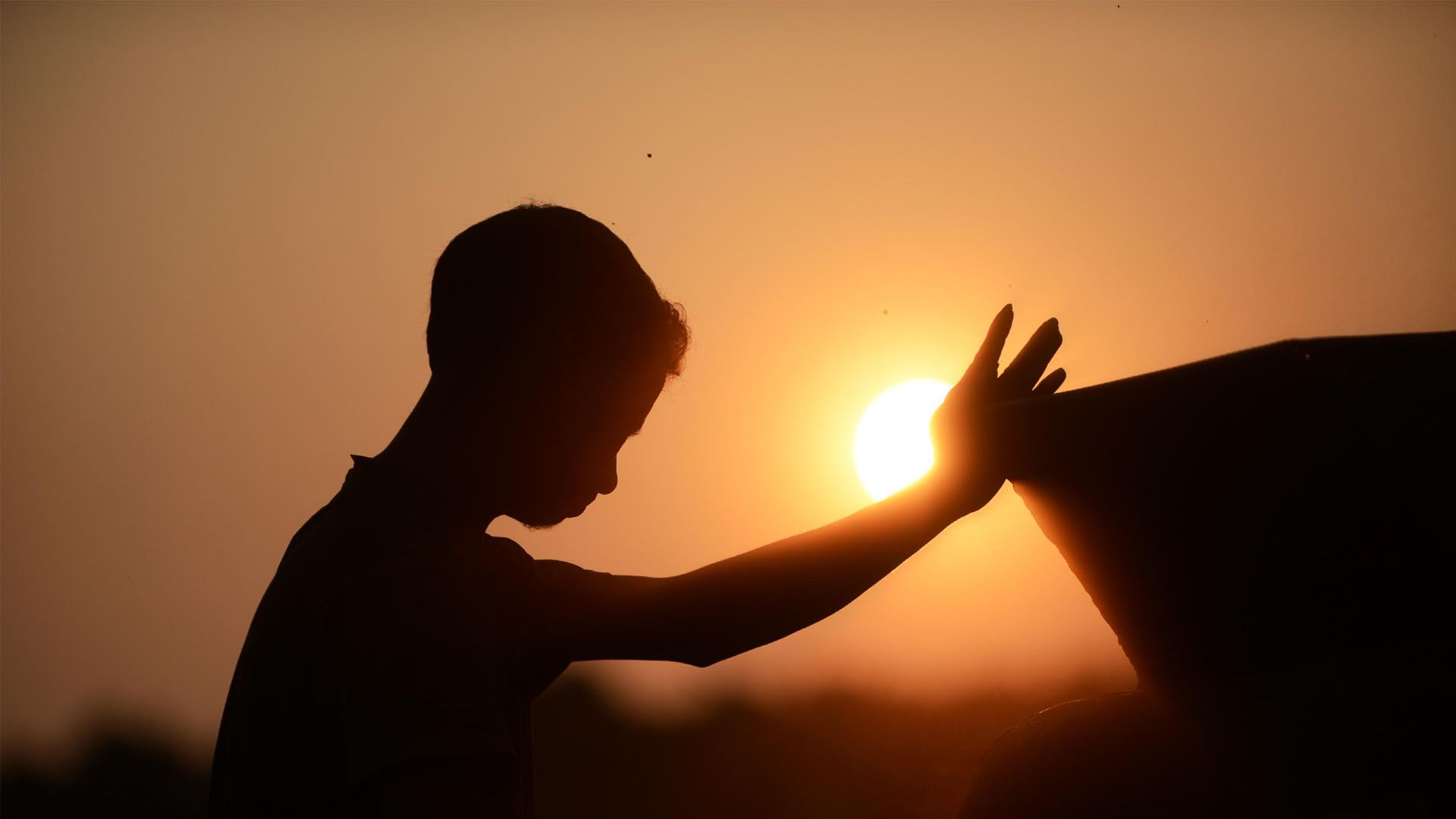Kids Prayer Sunset HD Wallpaper | Inspiring | Pinterest ...