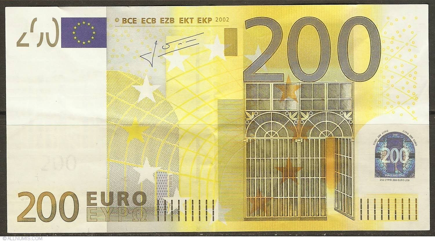 What objects are depicted on EURO bills of different denominations Why them