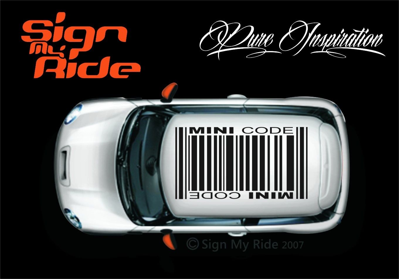 Mini Graphics MINI ROOF GRAPHICS Barcode MiniMe Pinterest - Bmw mini roof decals