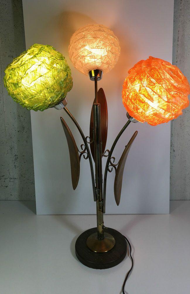 Original Lamps vintage spaghetti lamp teak lucite original mid-century modern