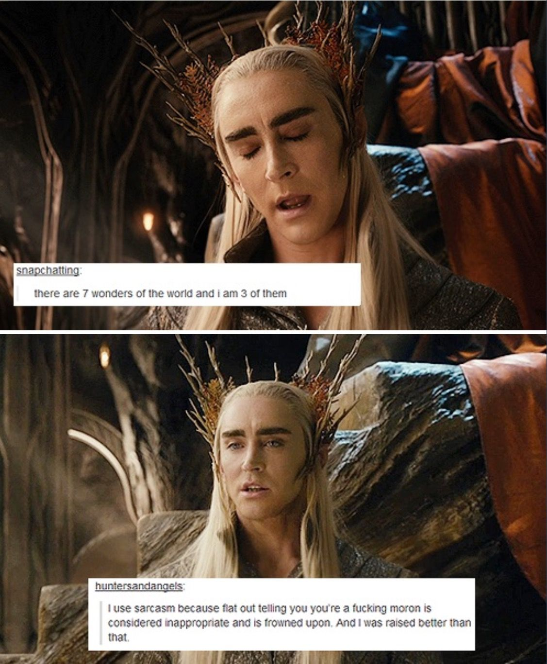 thranduil x legolas | Tumblr