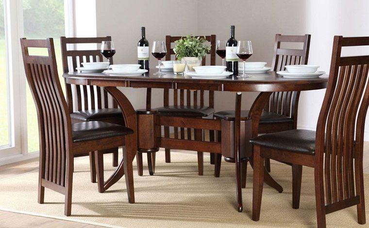 Mesas de comedor modernas de madera maciza - más de 50 ideas