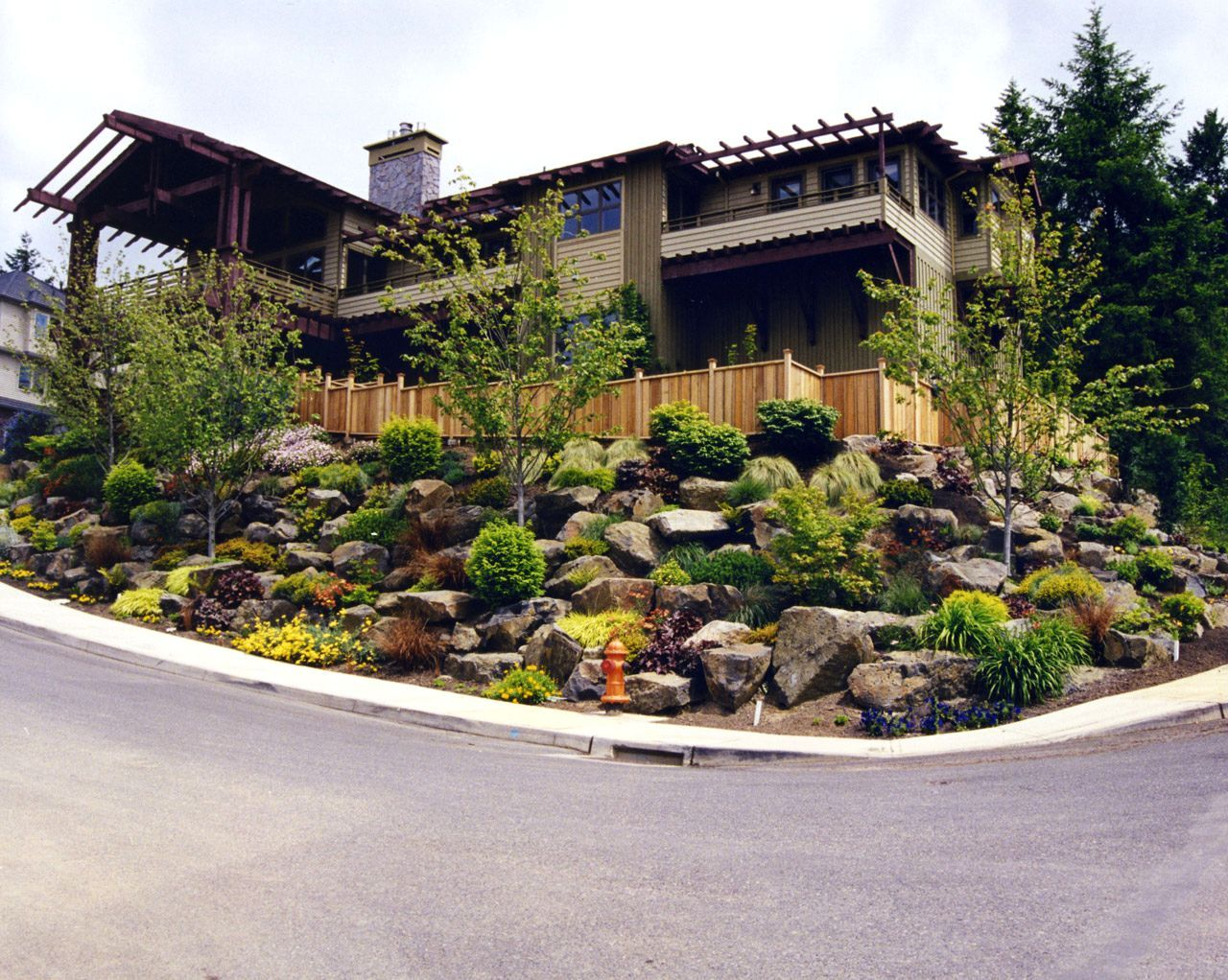 Low Maintenance Shrubs And Hillside Landscaping Ideas Landscape