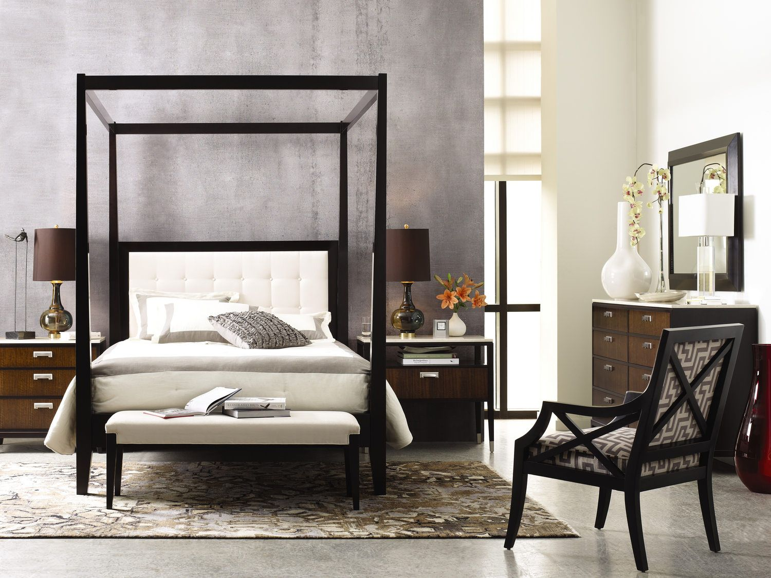 Uptown Tall King Poster Bed With Canopy Gabberts Design Studio