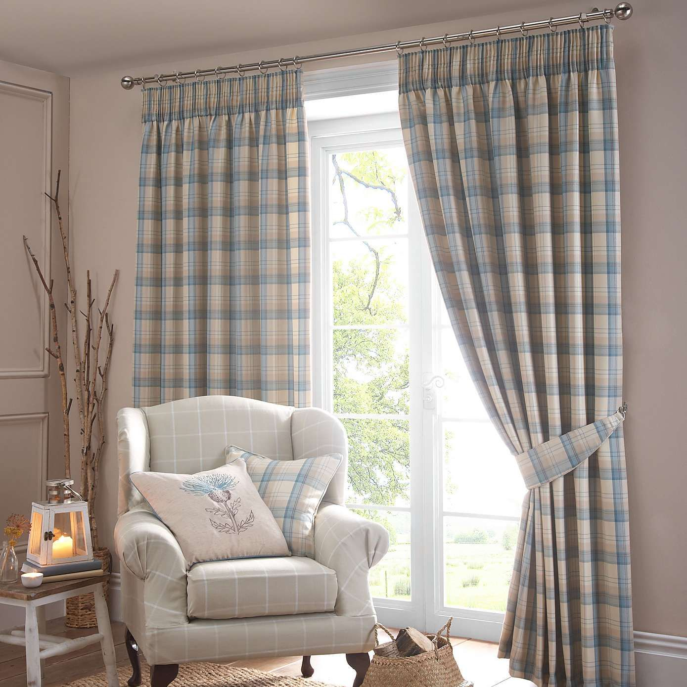 Duck Egg Balmoral Pencil Pleat Curtain Collection