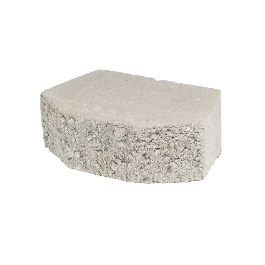 1 68 Each At Lowes Gray Basic Concrete Retaining Wall Block Common