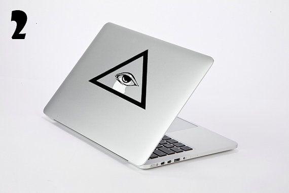 The All Seeing Eye Illuminati Vinyl Sticker Decal Skin For Apple - Custom vinyl stickers macbook
